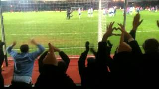 Spurs v West Ham celebrations after game Feb 2013