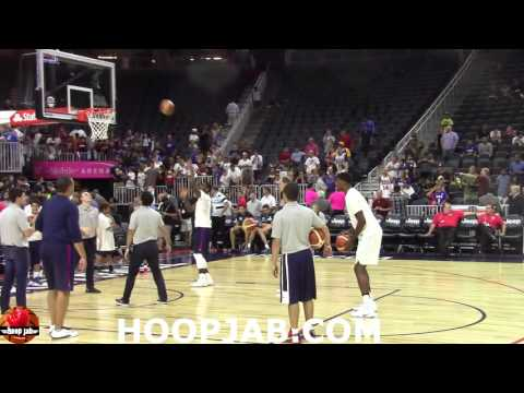 Kyrie Irving & Paul George Warming Up Before The USA VS Argentina Exhibition Game.HoopJab