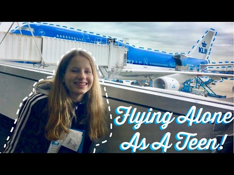 My Experience Flying As An Unaccompanied Minor With KLM! (Travel Vlog)