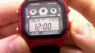Годинник Casio Illuminator AE-1300WH-4A [AE-1300WH-4AVEF] - відео огляд від PresidentWatches.Ru