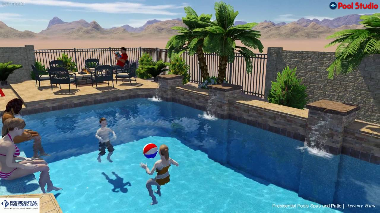 Dekeyrel Family Backyard Design Concept By Jeremy Hunt At Presidential Pools Spas And Patio