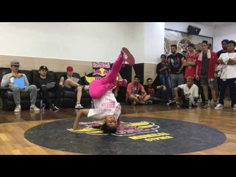 Bgirl ShawtyPink VS BBoy WildChild | RedBull BC one India | Selection Cypher for top 8