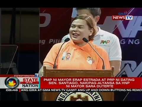 PMP ni Mayor Erap Estrada at PRP ni dating Sen. Santiago, nakipag-alyansa sa HNP ni Mayor Duterte