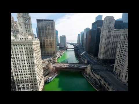 St. Patrick's Day 2015 Chicago River Greening Timelapse