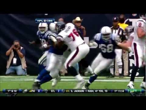 Duane Brown shutting down Dwight Freeney 9.11.11