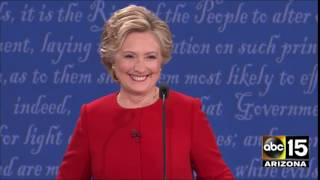 Hillary Clinton shimmy - Presidential Debate - Donald Trump vs. Hillary Clinton