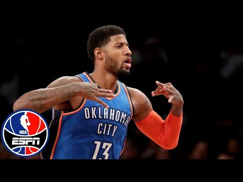 Paul George drops 25 in 4th quarter, Thunder rally to stun Nets | NBA Highlights