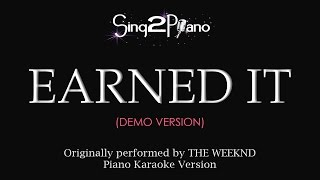 Earned It (Piano Karaoke demo) The Weeknd