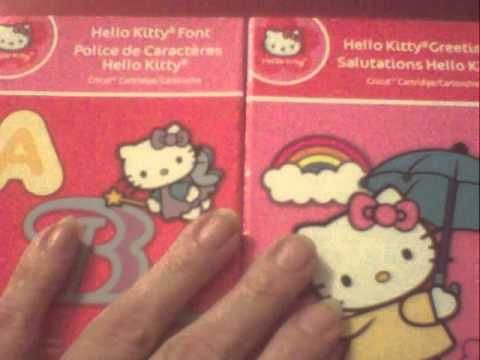 My early Christmas gift, Hello Kitty Cricut Cart and HK Font Cart