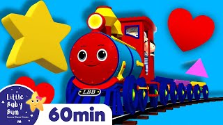 Shape Train Song Part 2 | Learning Videos for Toddlers | ABC 123 Colors & Shapes | Little Baby Bum