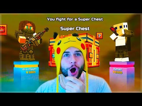 Pixel Gun 3D | OMG! 1 V 1 DUELS HE ACCEPTED THE SUPER CHEST FIGHT!
