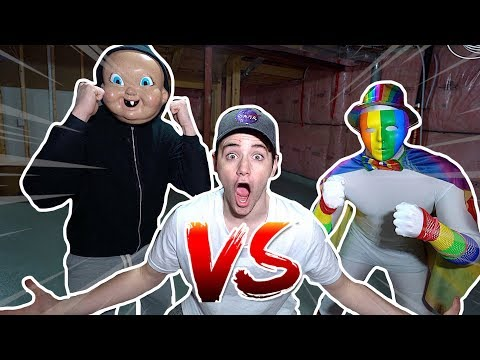 (Insane) EVIL Rainbow Man Meets Happy Death Day At 3AM (They Battle Each Other)