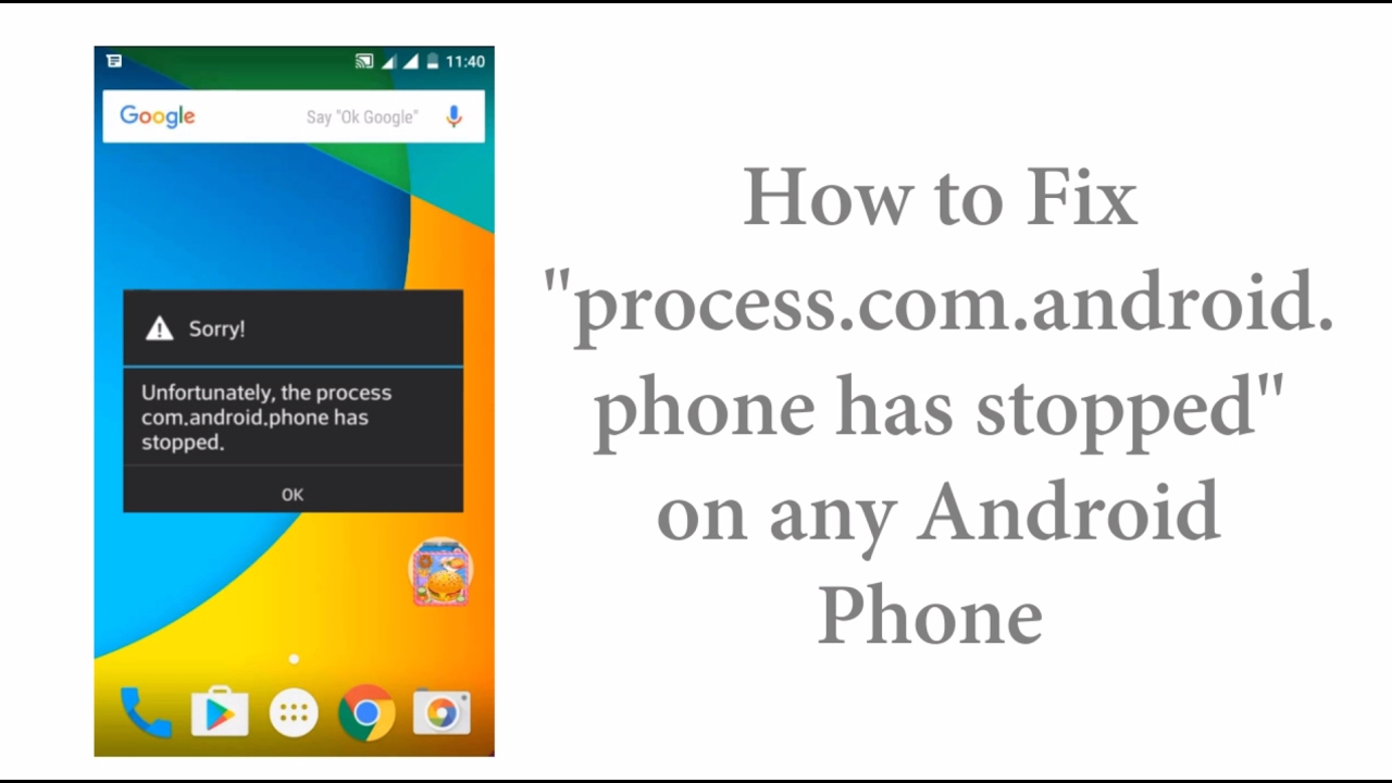 Phone Process Com.android.phone Stopped fix unfortunately the process com android phone has stopped on android
