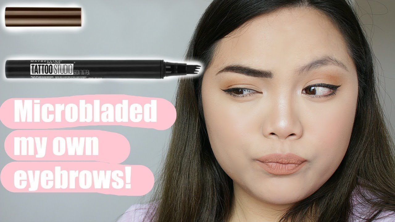 Maybelline Tattoo Microblading Pen First Impression Youtube