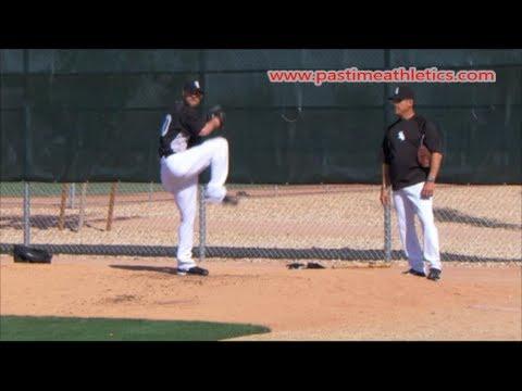 John Danks Slow Motion Baseball Pitching Mechanics - Chicago White Sox Pitcher Tips Drills MLB