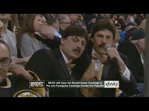 Boston Bruins Fans Dress Up Like Rene Rancourt
