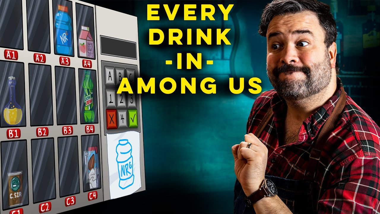 I Made Every Drink in Among Us Vending Machine | How to Drink