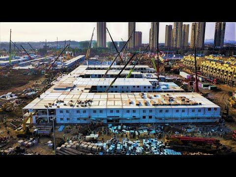 Finalizan en diez días la construcción del hospital para combatir el coronavirus en Wuhan