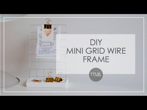 DIY HOME DECOR    MINI GRID WIRE FRAME   TTSM