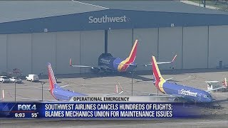Southwest Airlines blames recent cancellations on weather, labor union delays