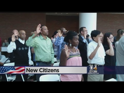 Dozens Sworn In As New U.S. Citizens In South Boston