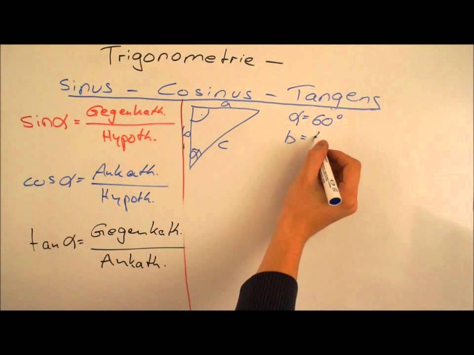trigonometrie sinus cosinus tangens youtube. Black Bedroom Furniture Sets. Home Design Ideas