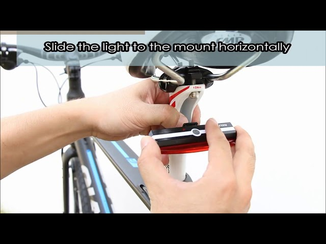 How to Install Blitzu USB Rechargeable Bicycle Tail Light - (2019) 🔥 ✅ #1