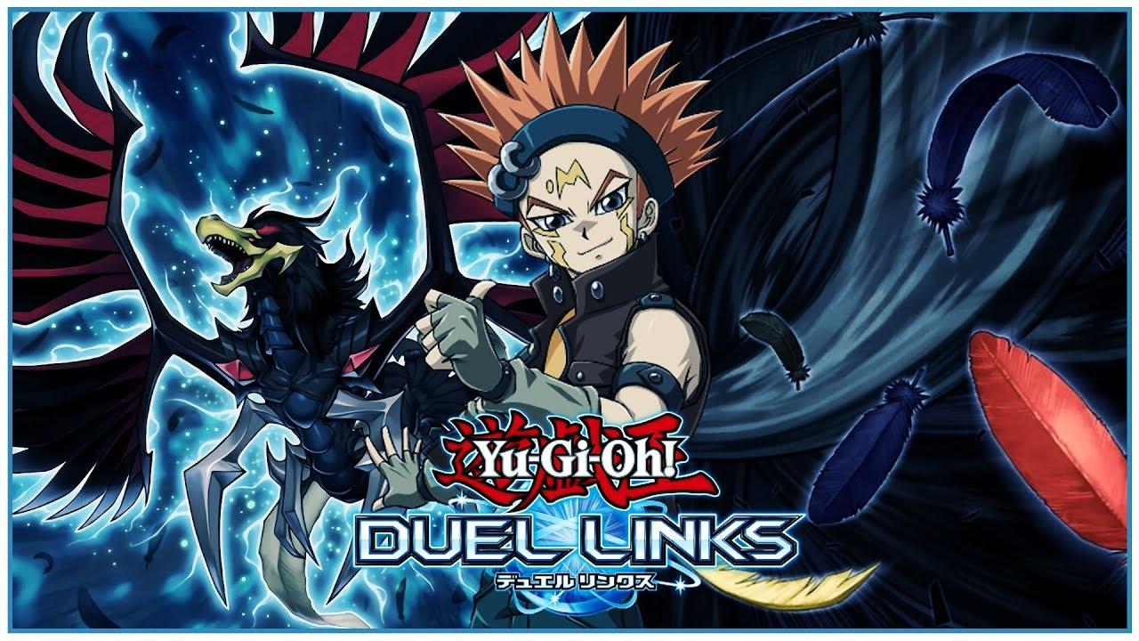 [Yu-Gi-Oh! Duel Links] Crow Hogan Skills & Cards! Black-Winged Dragon!  BLACK WHIRLWIND! [LEAKS]