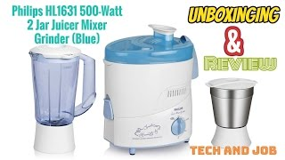 Philips HL1631 500 Juicer Mixer Grinder How to use/ Review/Unboxing in Hindi
