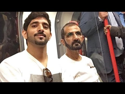Billionaire Dubia Royal Family - Maktoum bin Rashid Al Maktoum - Travelling In UK Tube