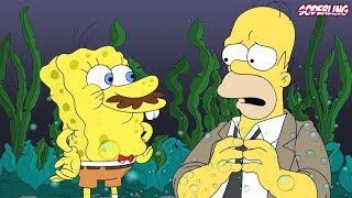 Спанч Боб в Симпсонах! | Отсылки на Губку Боба в Других Мультсериалах