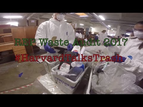 Harvard students conduct waste audit