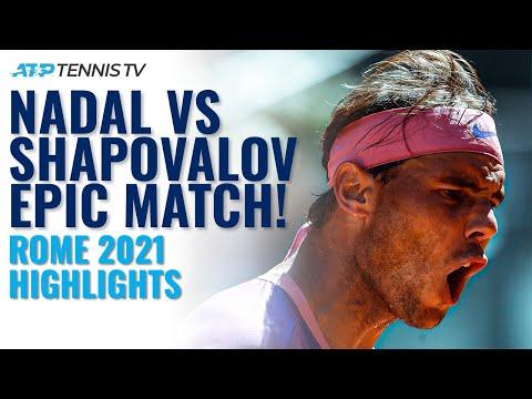 EPIC & DRAMATIC Battle Between Rafa Nadal and Denis Shapovalov in Rome!