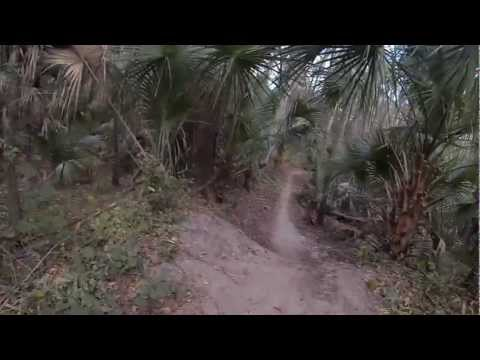 Red Panther MTB Trail at Chuck Lennon in Deleon Springs Florida