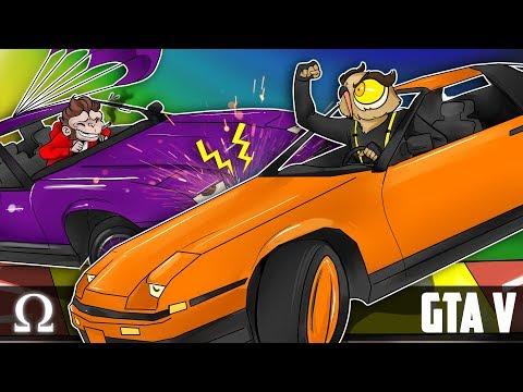 CAR DARTS MAKE THEM GO CRAZY!  GTA V Funny Moments Ft Lui, Vanoss, Brian