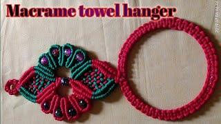 Beautiful macrame towel hanger…