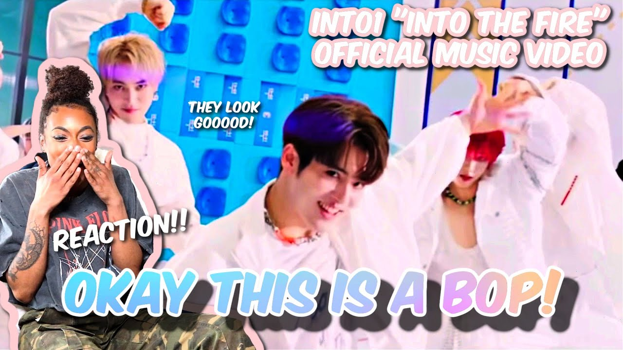 THEY LOOK SOO GOOD!!   #INTO1–《INTO THE FIRE》MV   REACTION!!