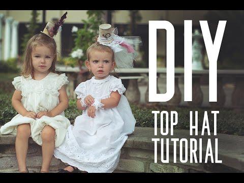 DIY Alice in Wonderland Mini Top Hat Tutorial - YouTube
