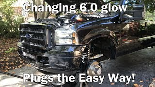 Changing 6.0 Powerstroke glow plugs the easy way!