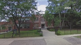 Vacant Detroit school demolished