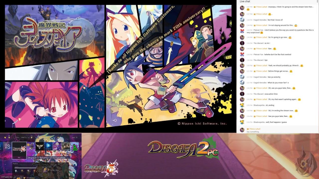 Disgaea 2 PC Part 91 + Disgaea 5 Stream (Day 574)
