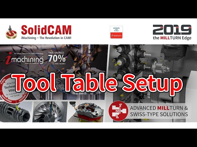 SolidCAM - Tool Table Setup
