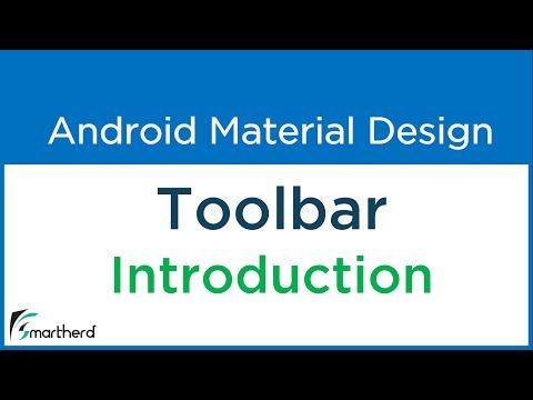 3 1 Android Toolbar example  Getting started with Material