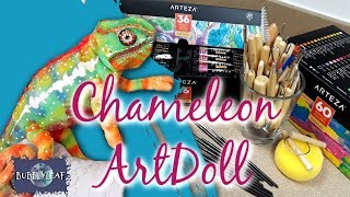 Realistic Chameleon Art Doll and Art Supply Review