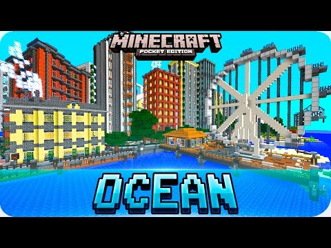 Minecraft PE Maps - Amazing DeepOcean City Map - IOS & Android 1.0.5 / 1.0 MCPE