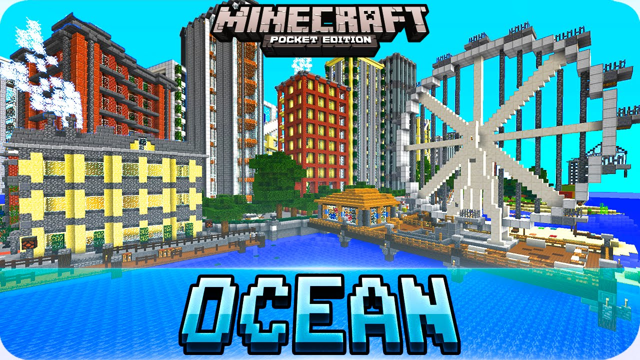 Minecraft PE Maps - Amazing DeepOcean City Map - iOS & Android 1.0.5 ...