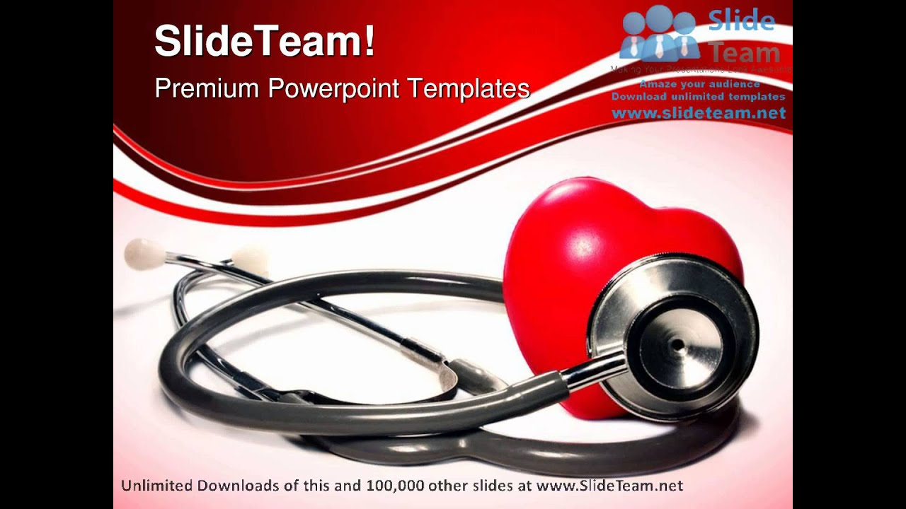Comfortable powerpoint templates medical theme gallery entry level stethoscope and heart medical powerpoint templates themes and toneelgroepblik Images