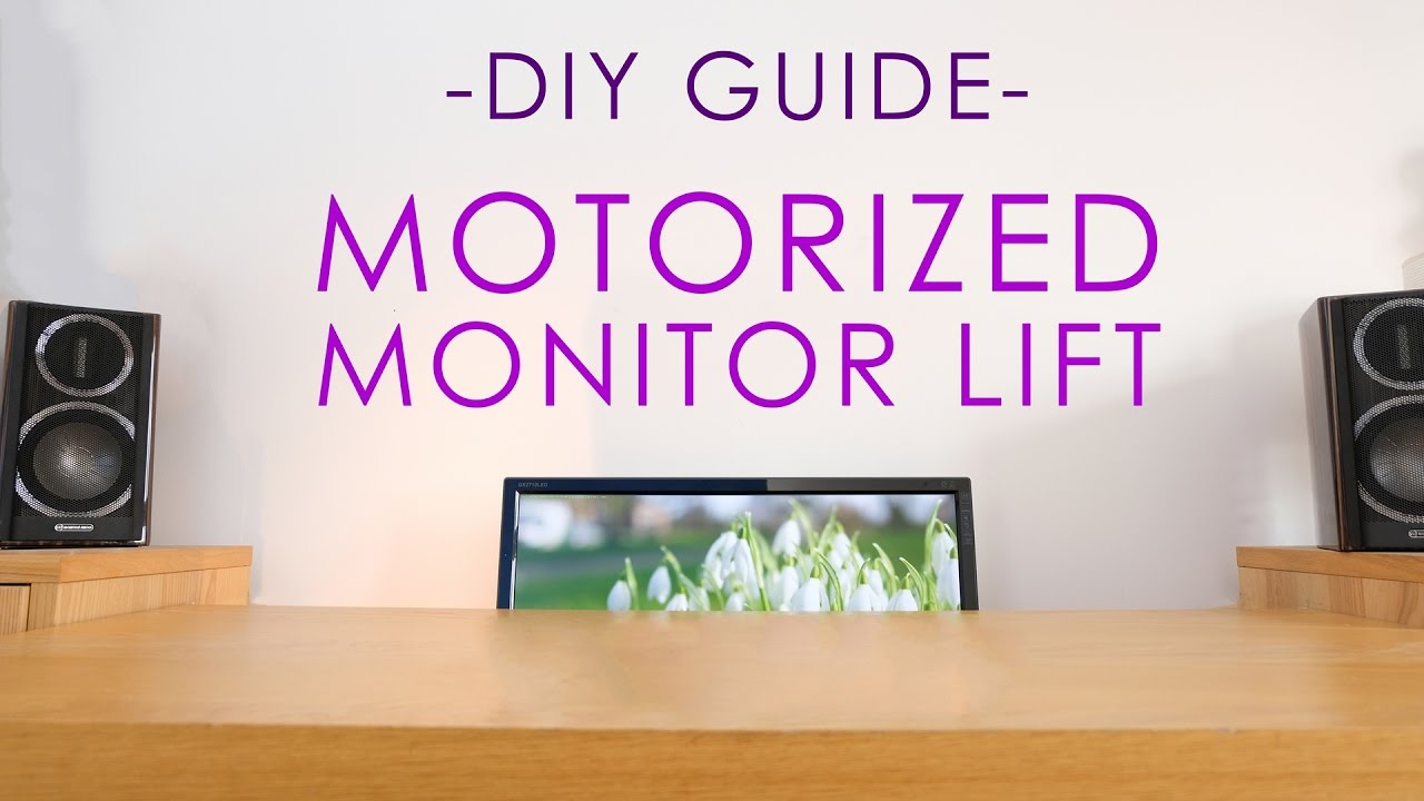 Build a motorized monitor lift on a budget youtube build a motorized monitor lift on a budget diy perks solutioingenieria