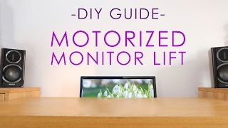 Build a MOTORIZED monitor lift (on a budget!)