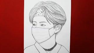 BTS Kpop Nasıl Çizilir || How To Draw BTS Kpop For Beginners || Pencil Sketch || Drawing Tutorial